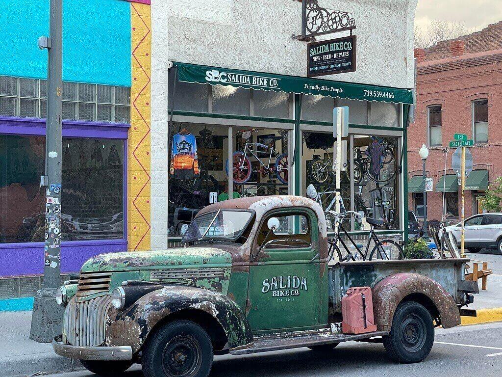 An old car in Salida, Colorado