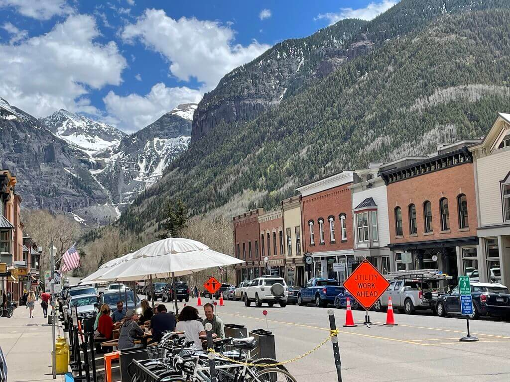 Telluride, Colorado and the mountains.