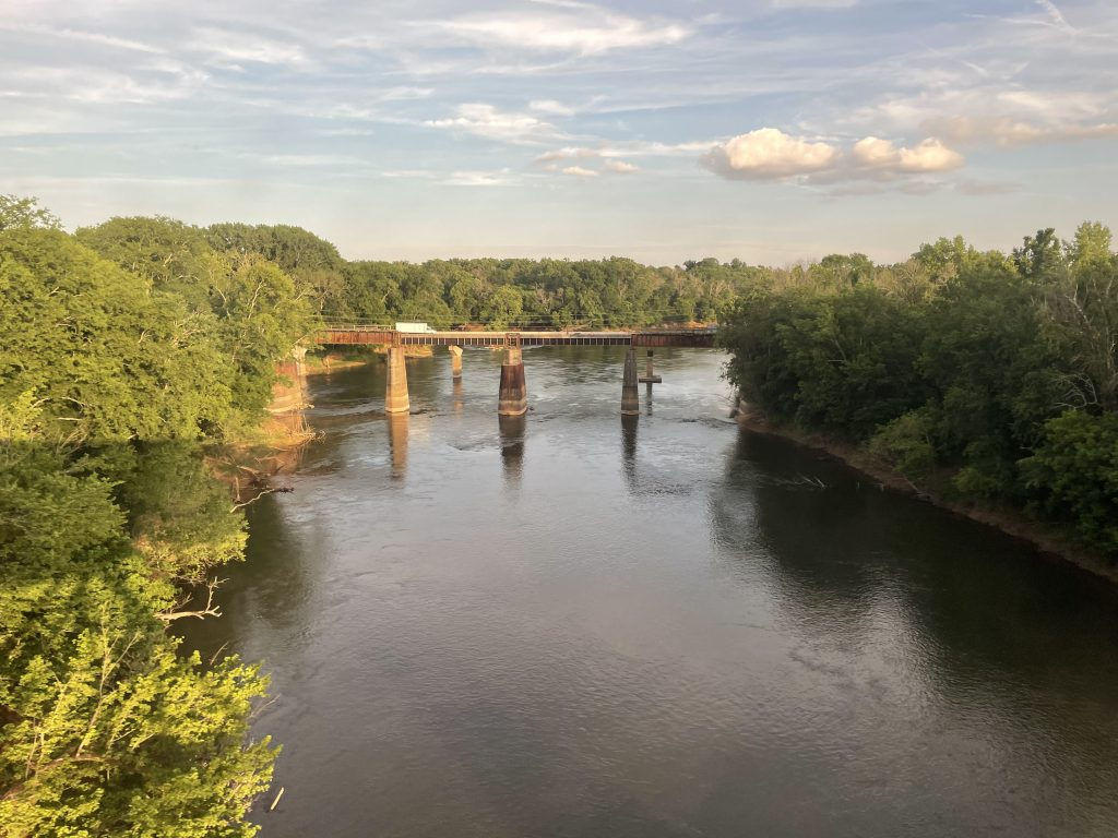 View from the Amtrak auto train window