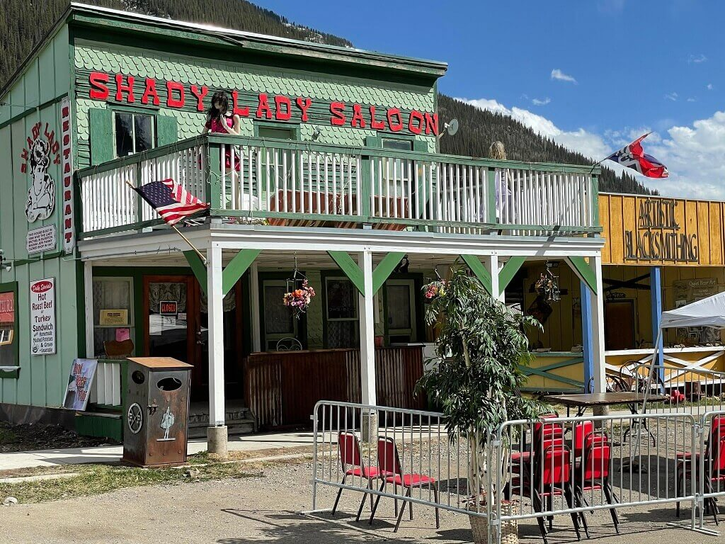 The Shady Lady Saloon in Silverton, one of the prettiest southwest Colorado towns