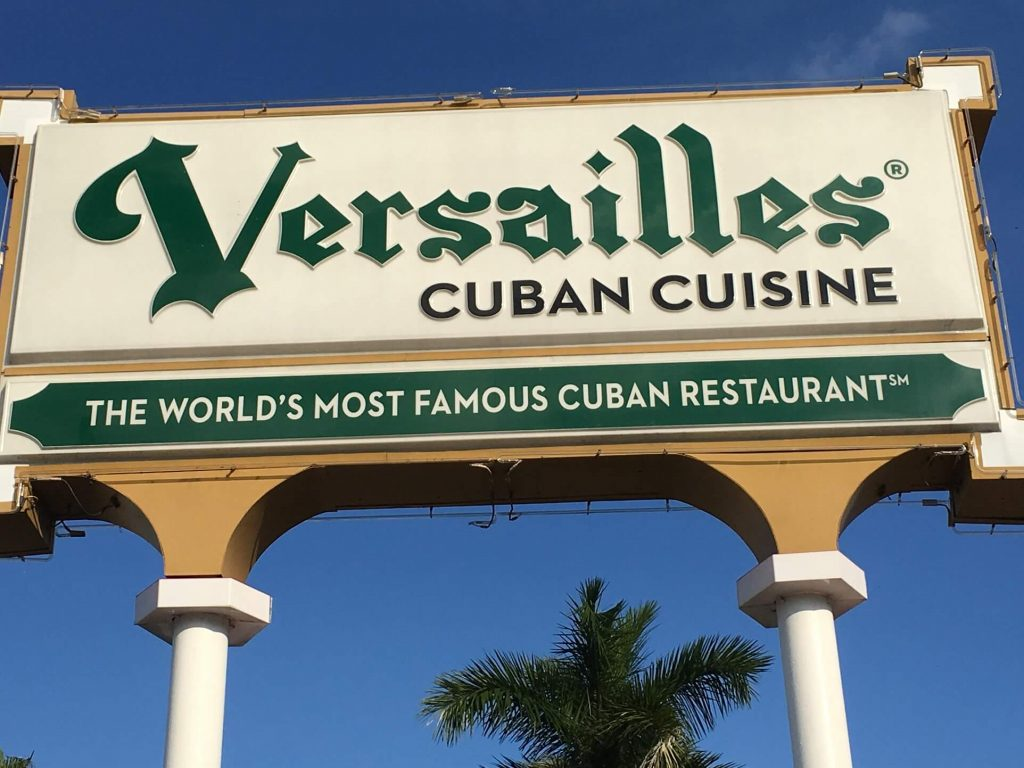 Versailles Restaurant. A center of Cuban culture.