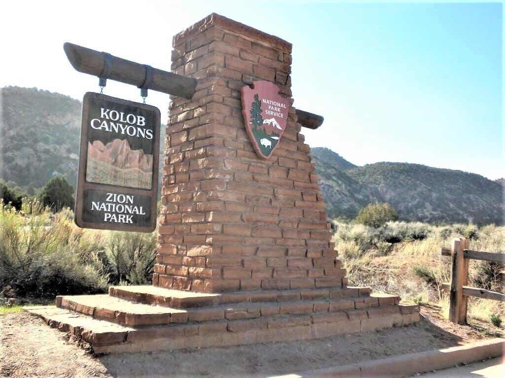 Kolob Canyons entrance to Zion National Park