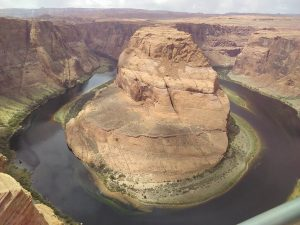 Horseshoe Bend in the east rim of the Grand Canyon